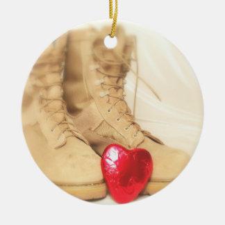 Kampfstiefelverzierung Rundes Keramik Ornament