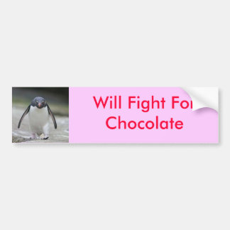 Kämpft für Schokolade Autoaufkleber