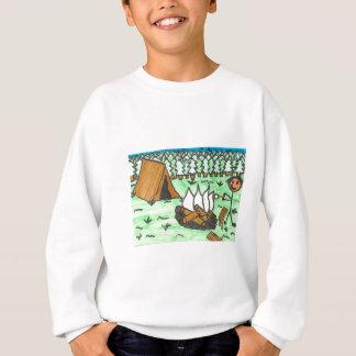 """Kampieren """"Ihre Namens """" Sweatshirt"""