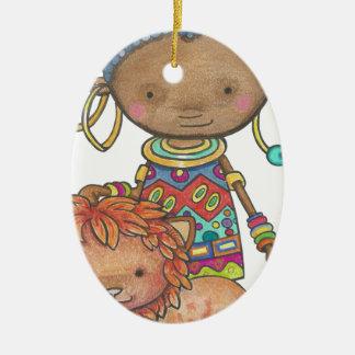 Kana die afrikanische Prinzessin Keramik Ornament