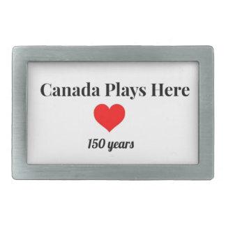 Kanada 150 im Jahre 2017 Kanada spielt hier Rechteckige Gürtelschnallen