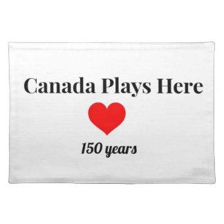 Kanada 150 im Jahre 2017 Kanada spielt hier Stofftischset