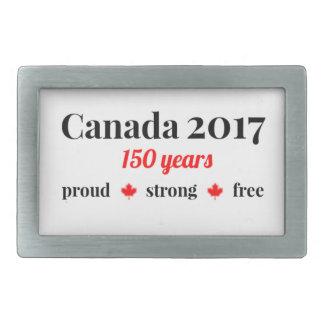 Kanada 150 im Jahre 2017 stolz und frei Rechteckige Gürtelschnalle