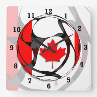 Kanada #2 quadratische wanduhr