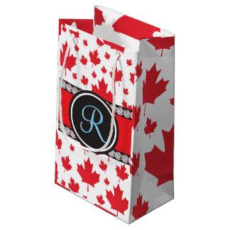 Kanada-Ahorn-Blatt-abstraktes Diamant-Monogramm Kleine Geschenktüte