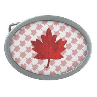 Kanada-Ahorn Blatt durch Shirley Taylor Ovale Gürtelschnallen