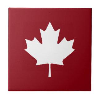 Kanada-Ahorn-Blatt-Keramik-Fliese - Rückfarben Kleine Quadratische Fliese