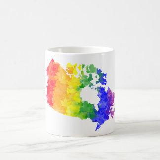 Kanada-Ahorn-Blatt-Regenbogen-Stolzkarten-Tasse Tasse