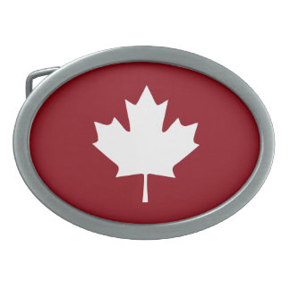 Kanada-Ahornblatt-Gürtelschnalle Ovale Gürtelschnallen