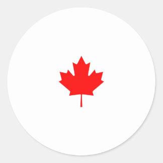 Kanada-Ahornblatt-Logo Runder Aufkleber