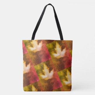 Kanada-Ahornblatt-Muster-rotes grünes Gold Tasche