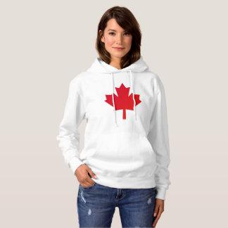 Kanada-Ahornblatt-Rot Hoodie