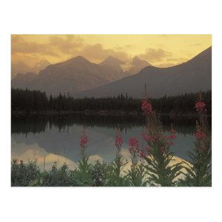 Kanada, Alberta, Banff. Sonnenaufgang Postkarte