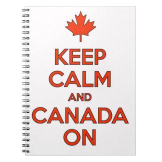 Kanada an u. behalten Muschel-Notizbuch Notizblock