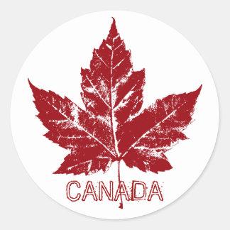Kanada-Andenken-Aufkleber-personalisierte Runder Aufkleber