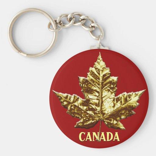 Kanada-Andenken-Schlüsselketten-Goldchrom-Ahornbla Schlüsselbänder