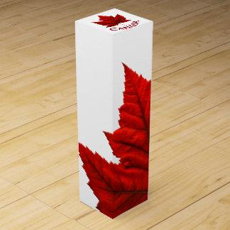 Kanada-Andenken-Wein-Kasten-kundenspezifischer Wein-Geschenkverpackung