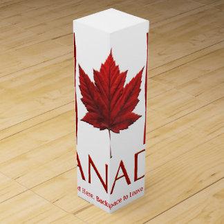 Kanada-Andenken-Wein-Kasten personalisierte Wein-Geschenkverpackung