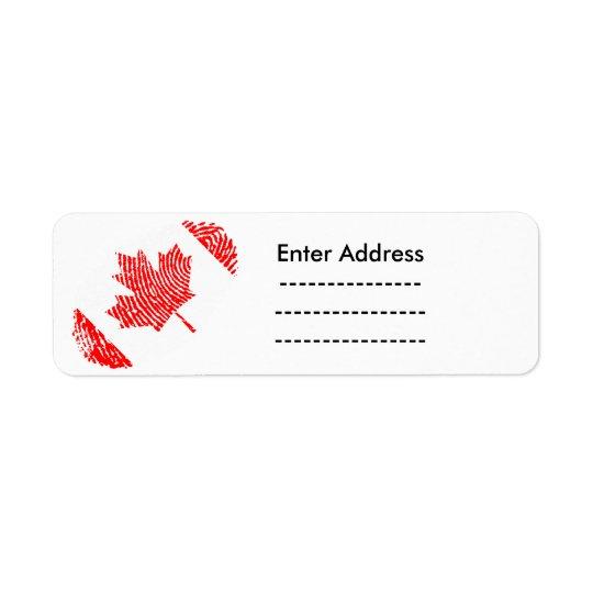 Kanada-Aufkleber beschriftet Rücksendeetiketten