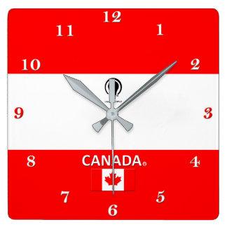 Kanada-Designer-Wanduhr Quadratische Wanduhr