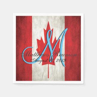 Kanada-Familien-Wiedersehen-Monogramm Serviette