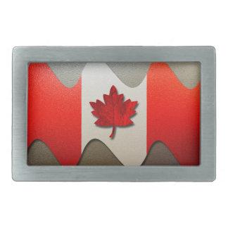 Kanada Flagge-Chrom durch Shirley Taylor Rechteckige Gürtelschnalle