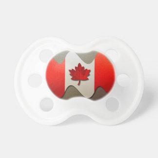 Kanada Flagge-Chrom durch Shirley Taylor Schnuller