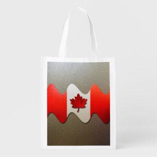 Kanada Flagge-Chrom durch Shirley Taylor Wiederverwendbare Einkaufstasche