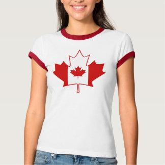 Kanada-Flagge im Ahornblatt - das weiße T-Shirt