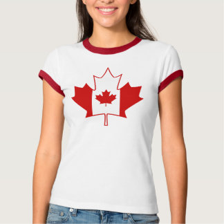 Kanada-Flagge im Ahornblatt - das weiße T-Shirt de