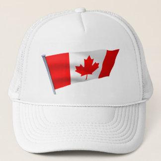 Kanada-Flagge im Wind Truckerkappe