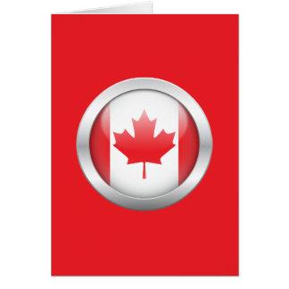 Kanada-Flagge in der Kugel Karte