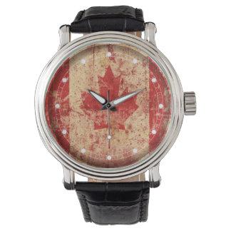 Kanada-Flagge (mehrfache Modelle) Armbanduhr