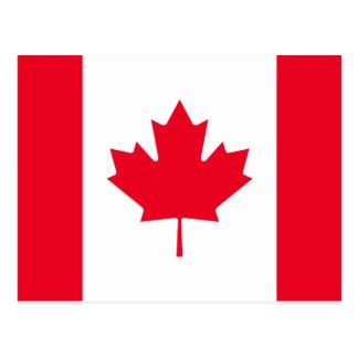 Kanada-Flagge Postkarte