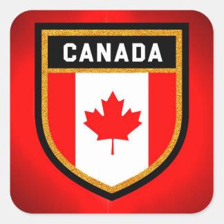 Kanada-Flagge Quadratischer Aufkleber