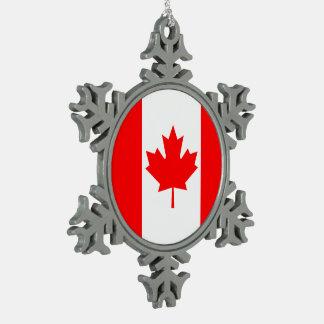 Kanada-Flagge Schneeflocken Zinn-Ornament