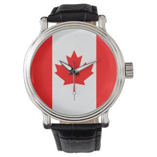 Kanada-Flagge Uhr
