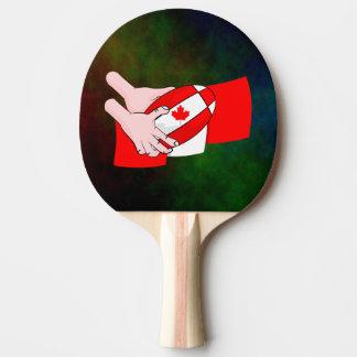 Kanada-Flaggen-Ahornblatt-Rugbyball Tischtennis Schläger