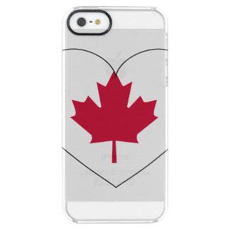 Kanada-Flaggen-Herz Durchsichtige iPhone SE/5/5s Hülle