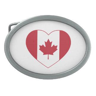 Kanada-Flaggen-Herz-Gürtelschnalle Ovale Gürtelschnallen