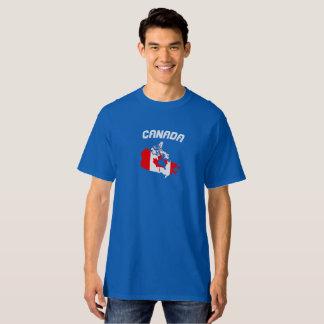 Kanada-Flaggen-Karten-Shirt T-Shirt