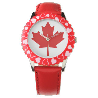 Kanada-Flaggen-Leuchtturm-Weg-rote Uhr