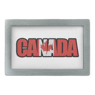 Kanada-Flaggen-Wörter Rechteckige Gürtelschnallen