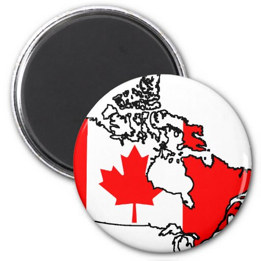 Kanada-Flaggenkarte Kühlschrankmagnete