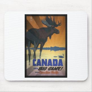 Kanada für großes Spiel-Vintages Reise-Plakat Mousepad