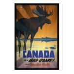 Kanada für großes Spiel-Vintages Reise-Plakat Postkarten