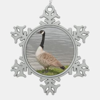 Kanada-Gans Schneeflocken Zinn-Ornament