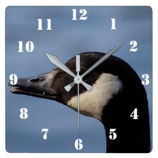 Kanada-Gans-Uhr Quadratische Wanduhr