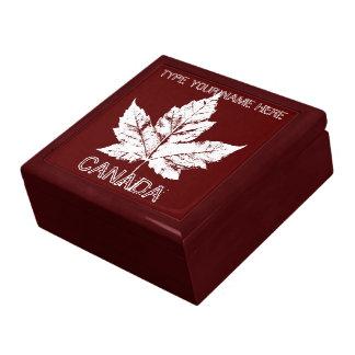 Kanada-Geschenkboxen-personalisierter Große Quadratische Schatulle