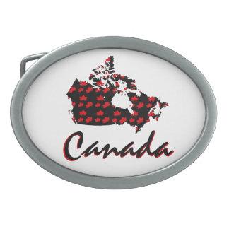 Kanada-Gürtelschnalle Rotahorn des einzigartigen Ovale Gürtelschnallen